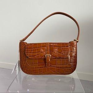By Far Miranda Tan Croco Embossed Leather